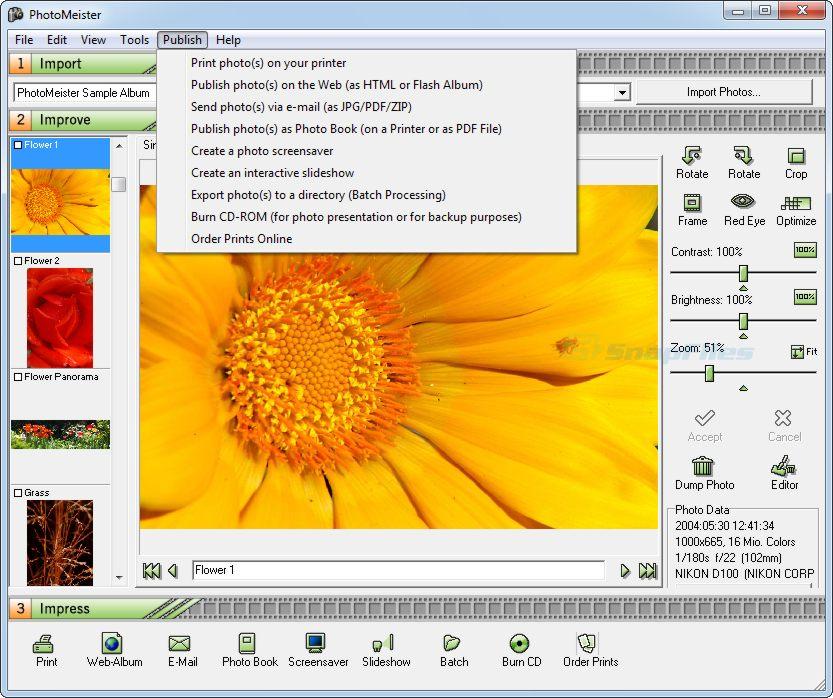 screenshot of PhotoMeister