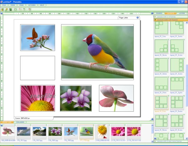 screen capture of PhotoMix