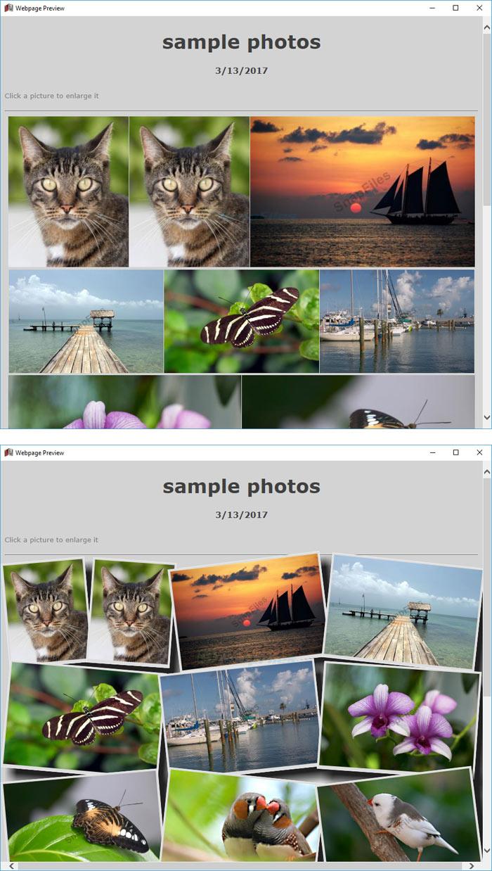 screenshot of PhotoPageGen