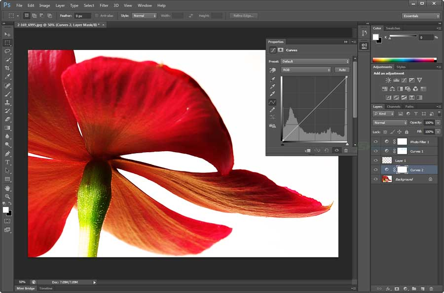 screen capture of Adobe Photoshop
