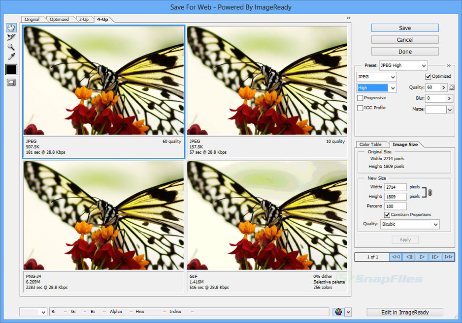 screenshot of Adobe Photoshop CS2