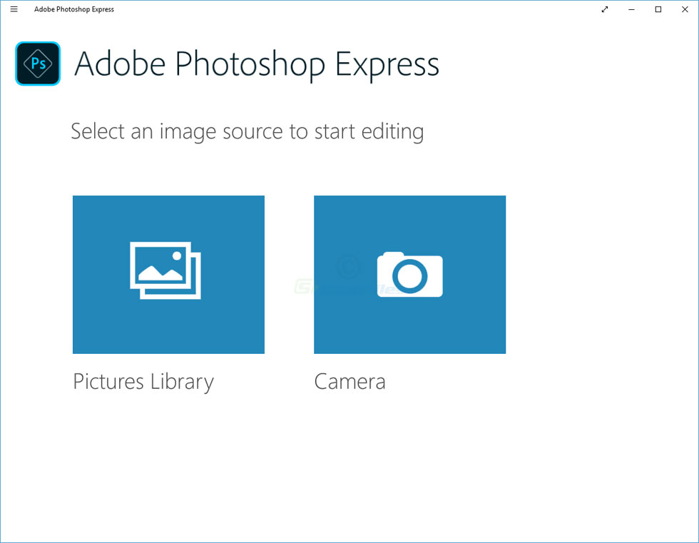 screenshot of Adobe Photoshop Express