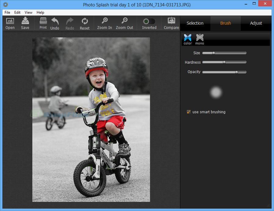 screenshot of Photo Splash
