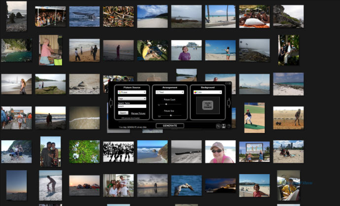 Stack Gallerydisplay Your Photos Scattered On Screen