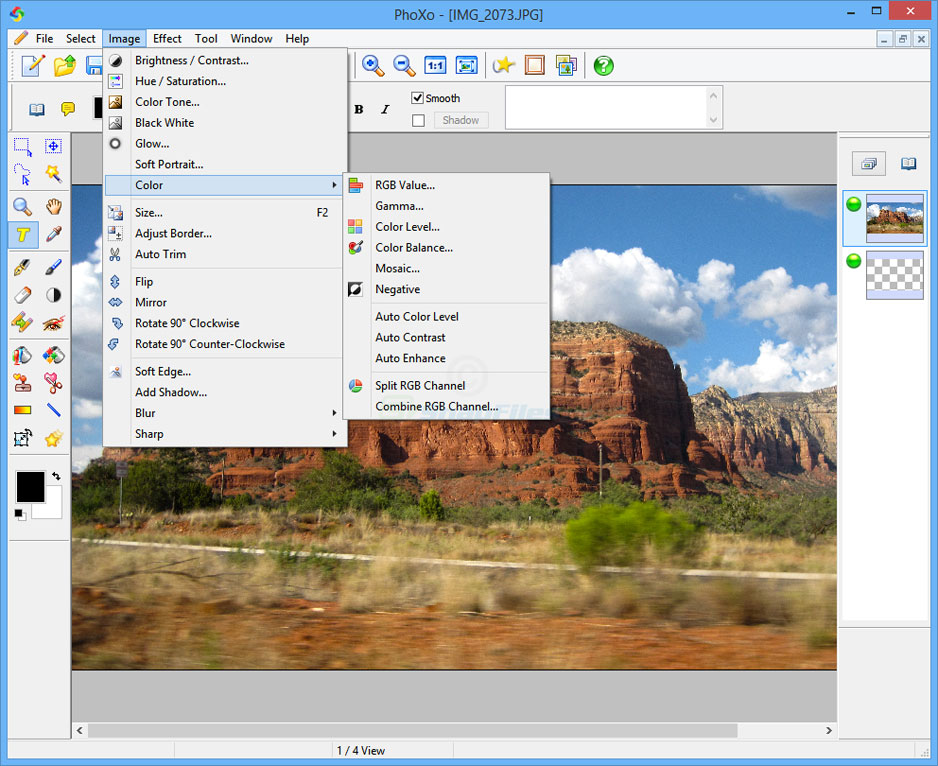 screenshot of PhoXo
