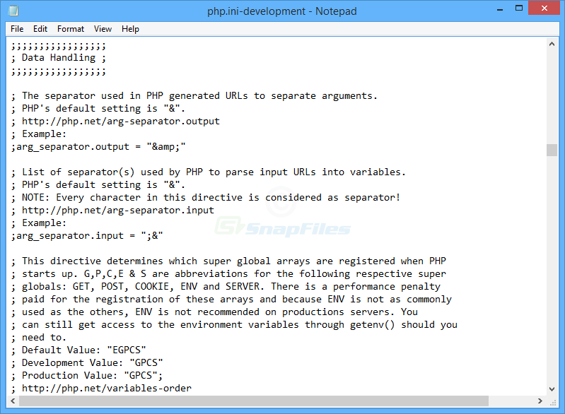 screen capture of PHP