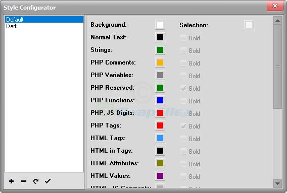 screenshot of PHPNotepad