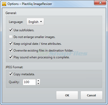 screenshot of Plastiliq Image Resizer