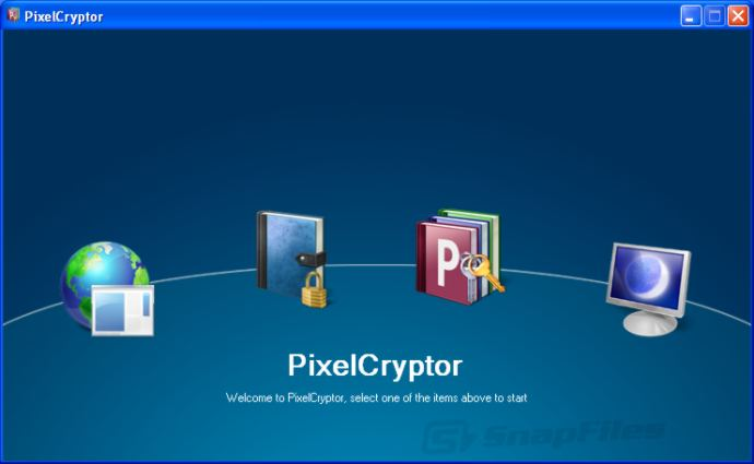 screen capture of PixelCryptor