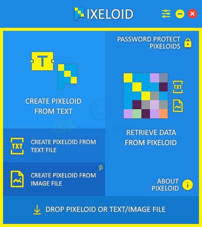 screen capture of Pixeloid