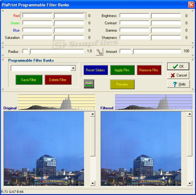 screenshot of PixPrint