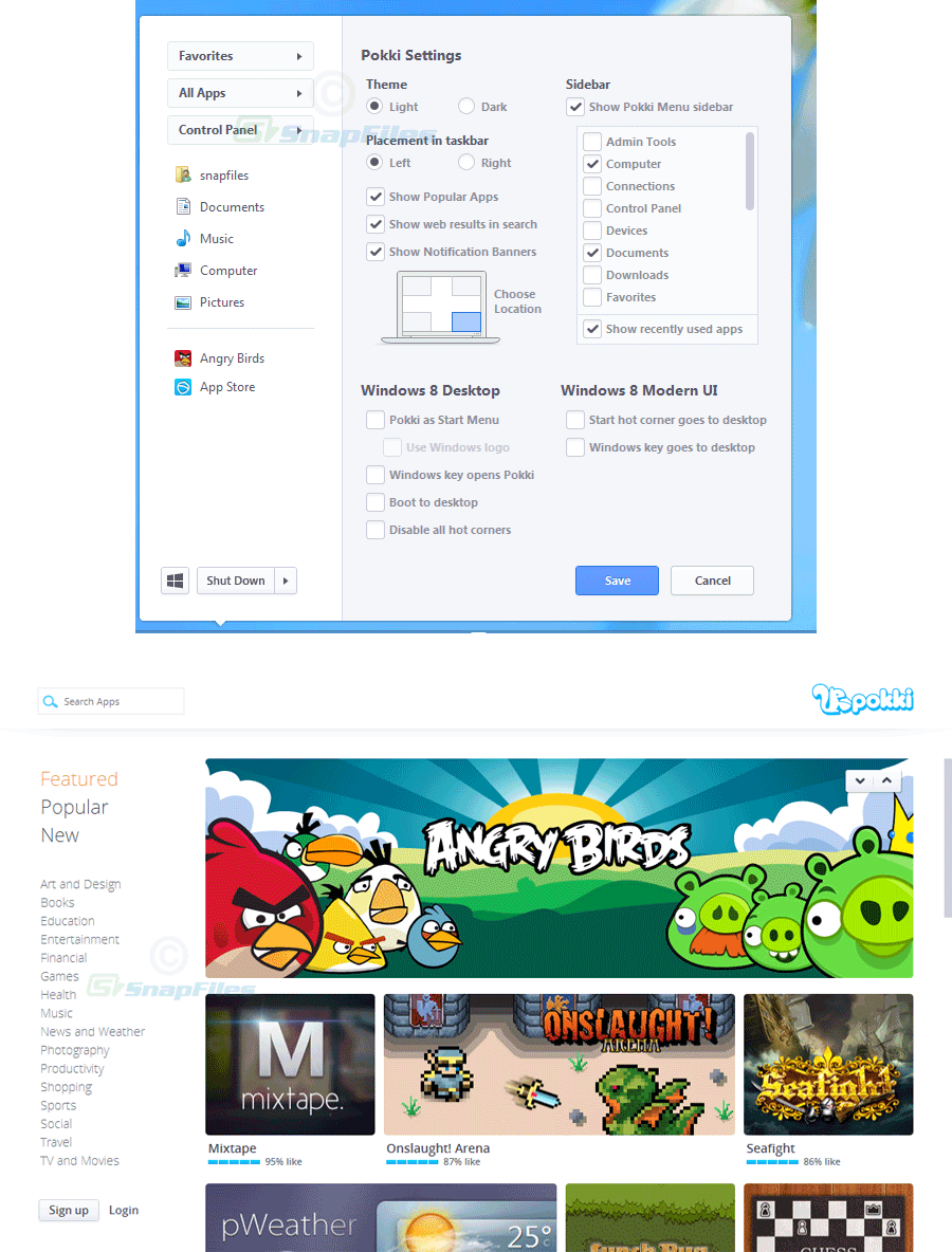 screenshot of Pokki