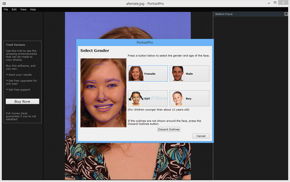 screenshot of PortraitPro