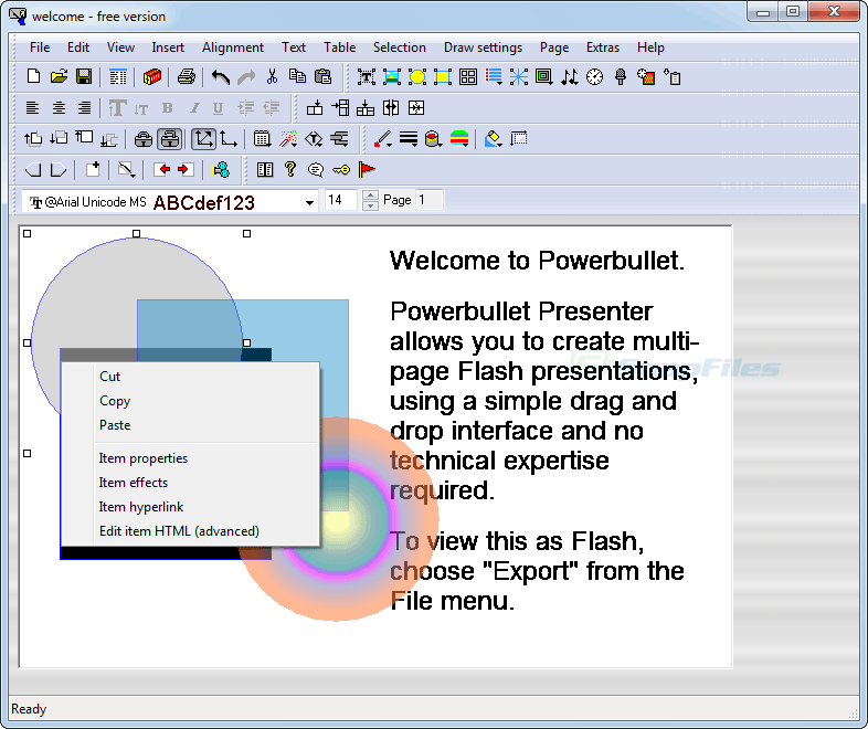 screen capture of Powerbullet Presenter