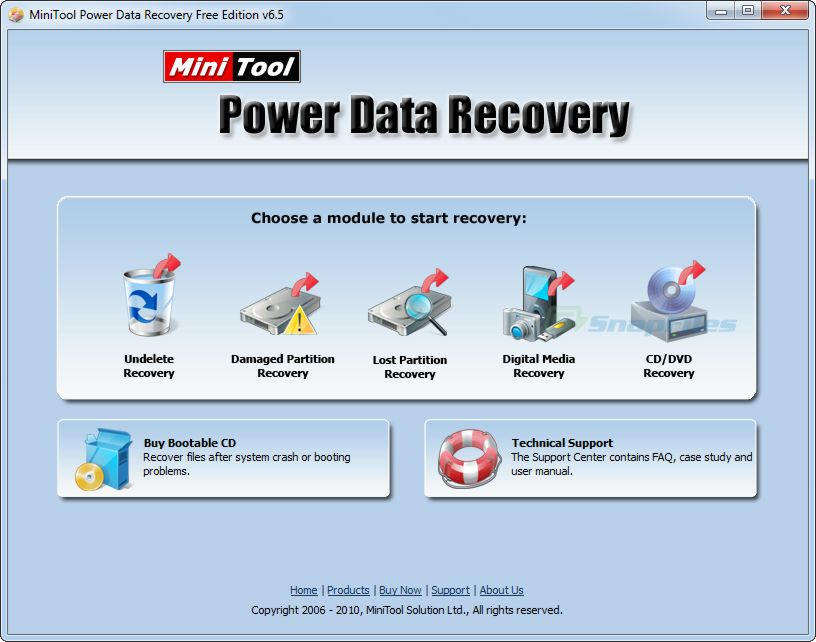 screen capture of MiniTool Power Data Recovery