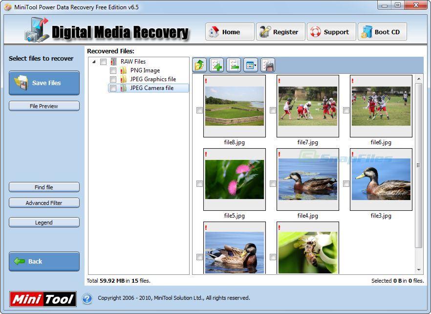 screenshot of MiniTool Power Data Recovery