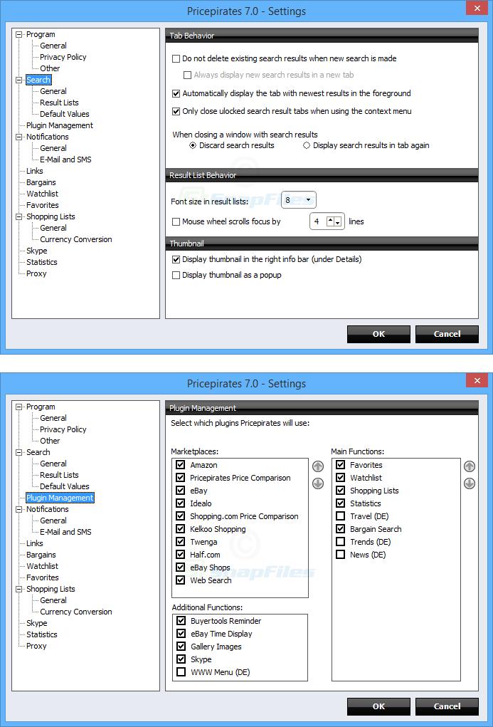 screenshot of Pricepirates