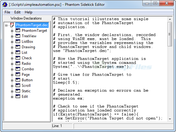 screenshot of Phantom Sidekick