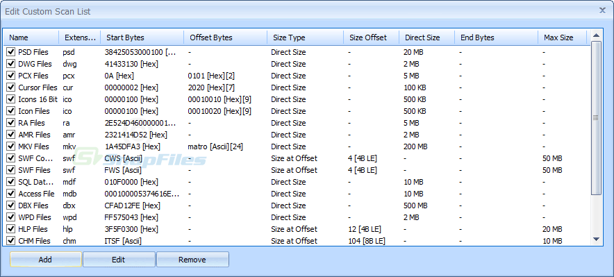 screenshot of Puran File Recovery