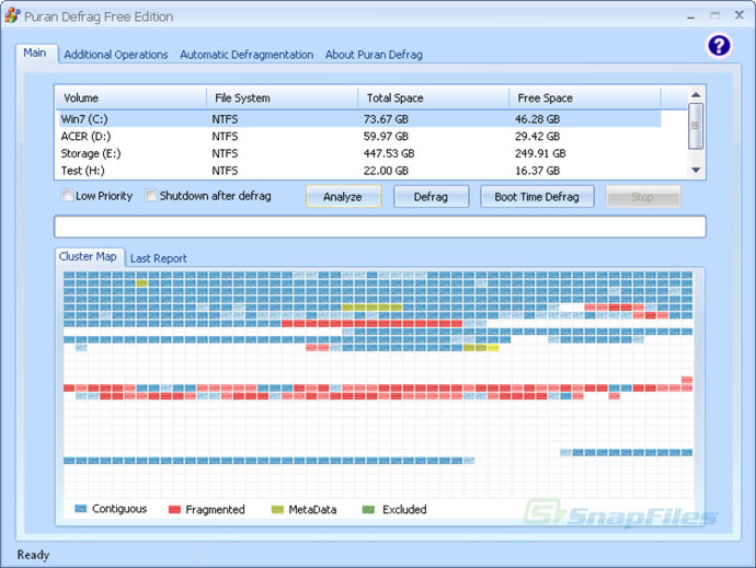 puranfree - Puran Defrag Free Edition (disk defragmenter)