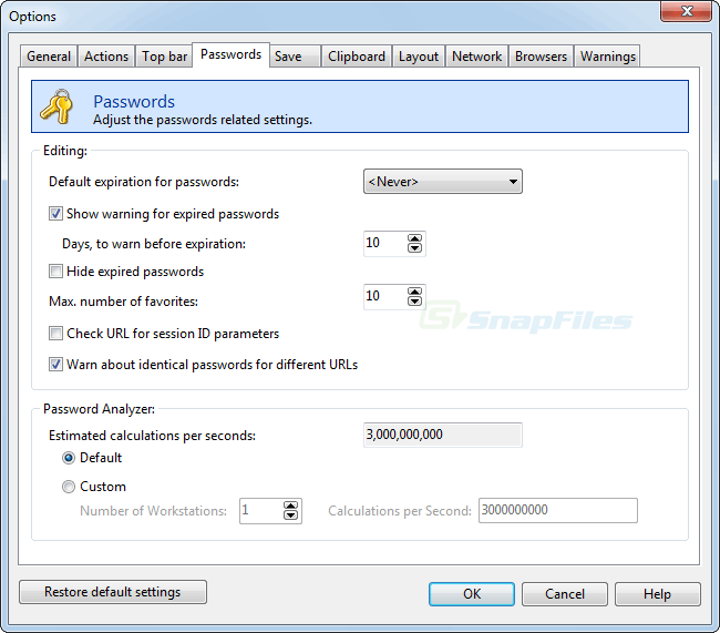 screenshot of Password Depot