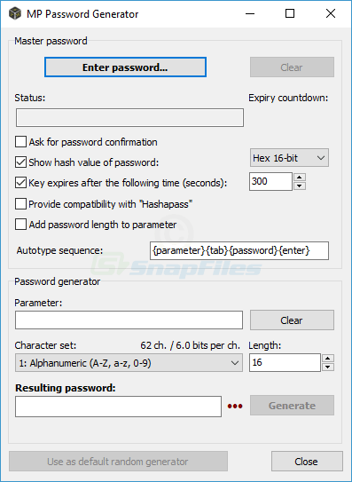 screenshot of Password Tech