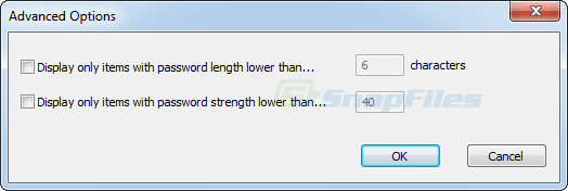 screenshot of Password Security Scanner