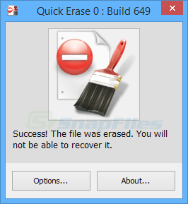 screenshot of Quick Erase