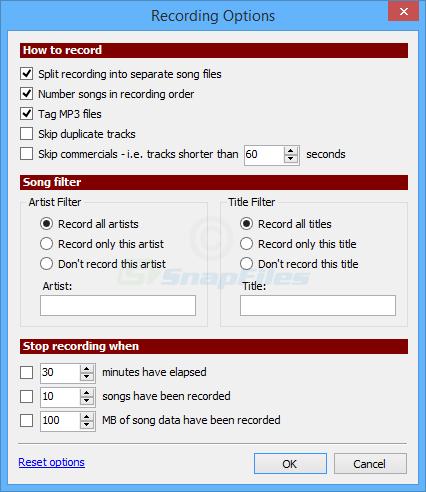 screenshot of Radio Ripper