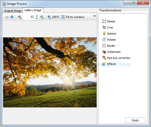 screenshot of ReaGallery