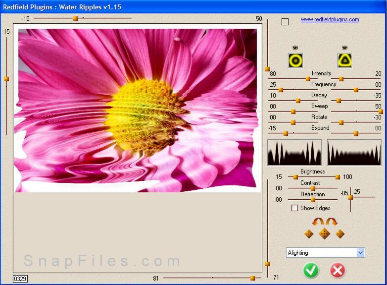 screen capture of Redfield Plugins