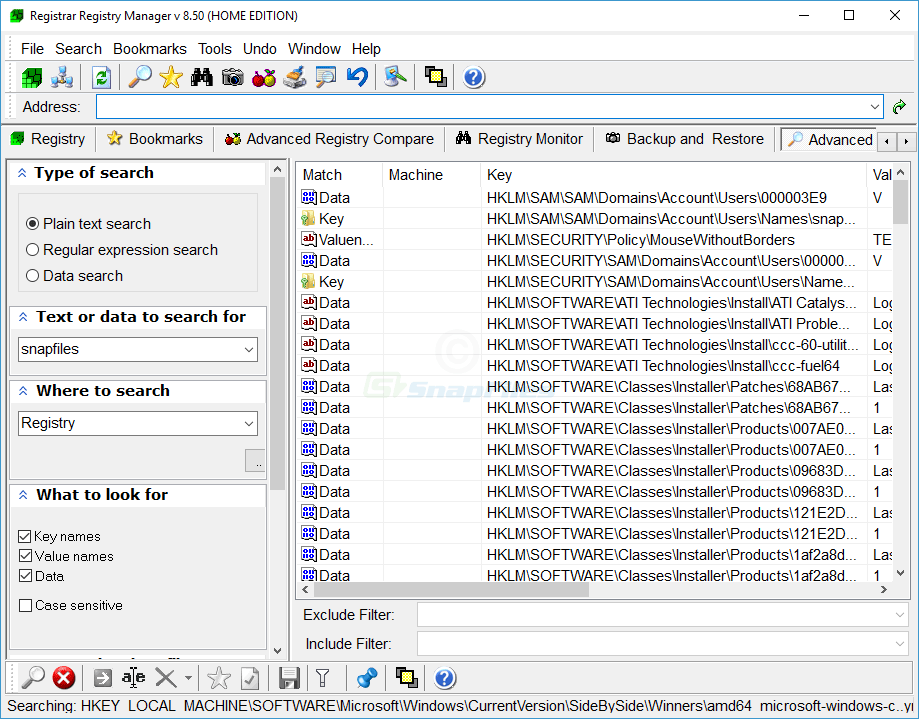 screenshot of Registrar Registry Manager
