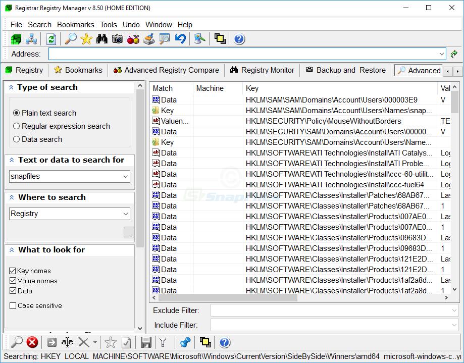 screenshot of Registrar Registry Manager