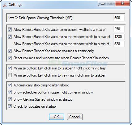 screenshot of RemoteRebootX