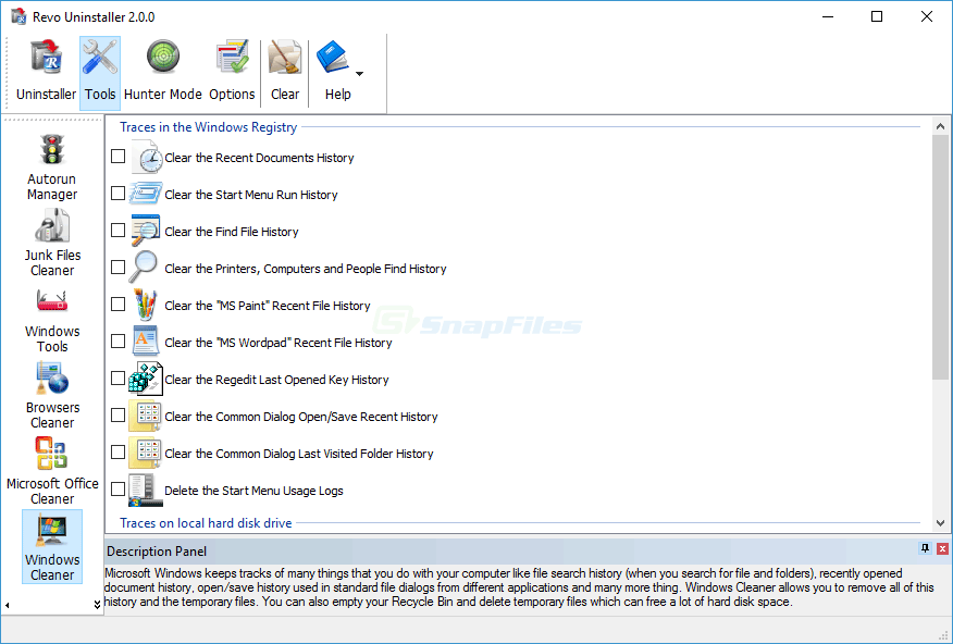 screenshot of Revo Uninstaller