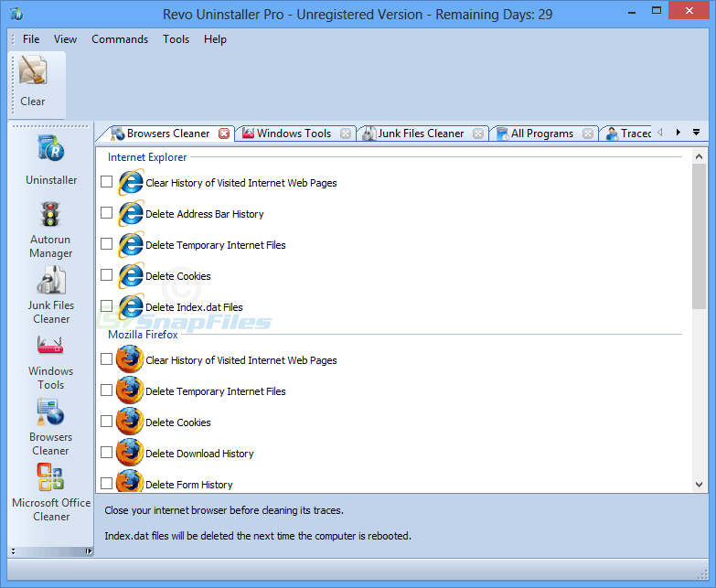 screenshot of Revo Uninstaller Pro