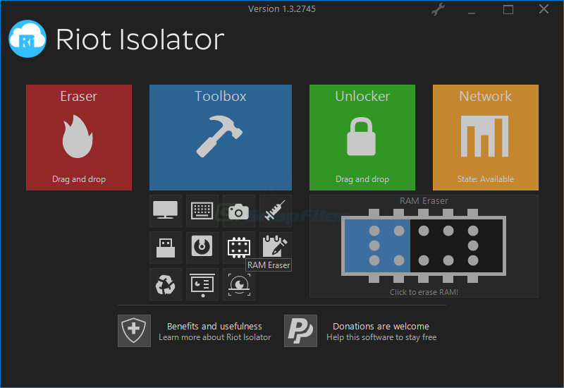 screenshot of Riot Isolator