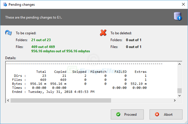 screenshot of RoboMirror