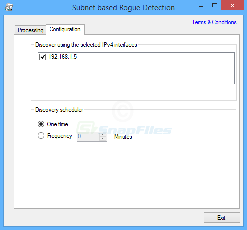 screenshot of Rogue DHCP Server Detection