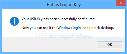 screenshot of Rohos Logon Key Free