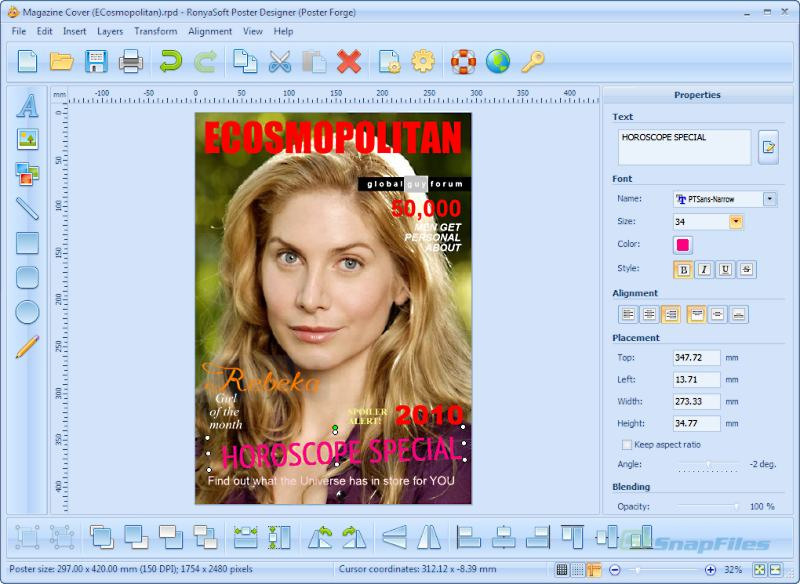 screenshot of RonyaSoft Poster Designer