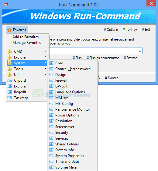 screenshot of Run-Command