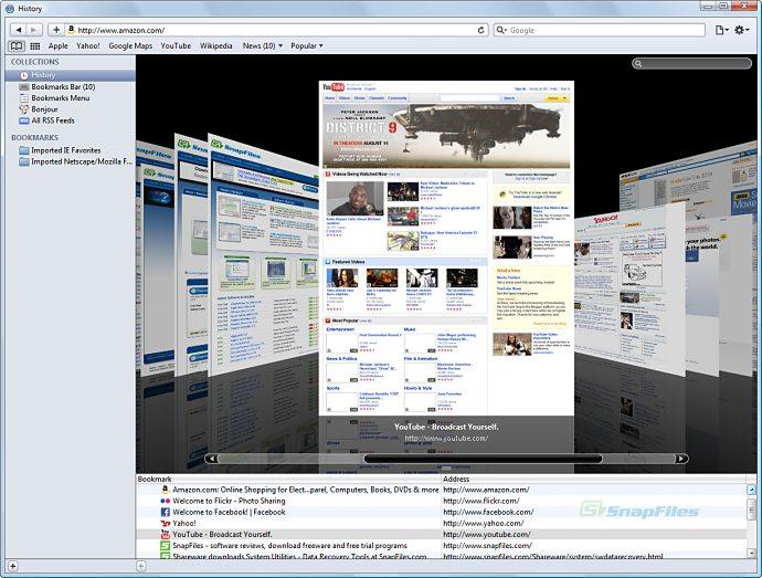 screenshot of Apple Safari