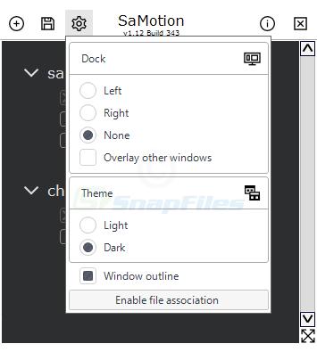 screenshot of SaMotion