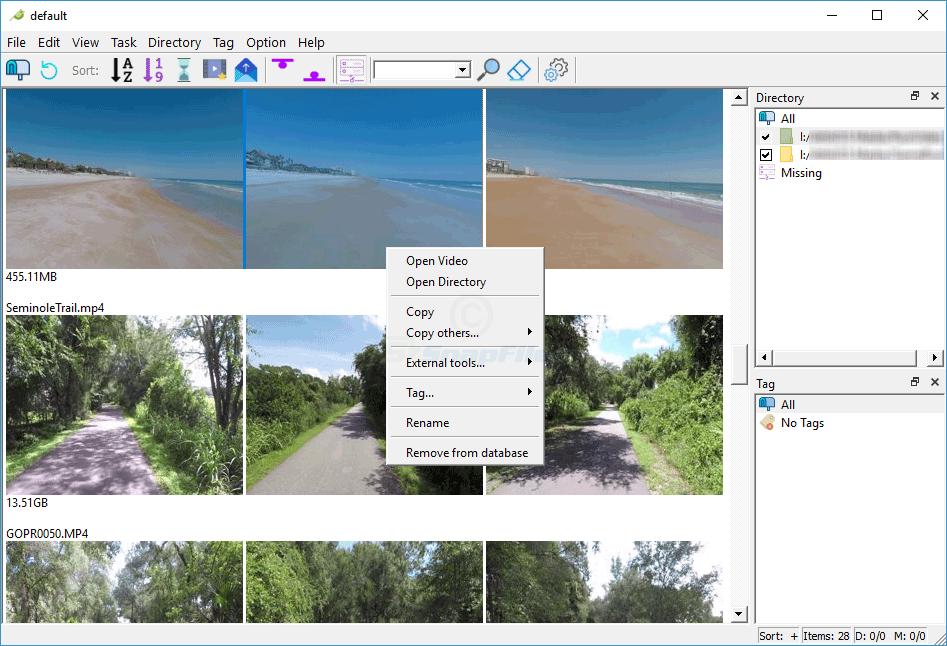 screen capture of SceneExplorer