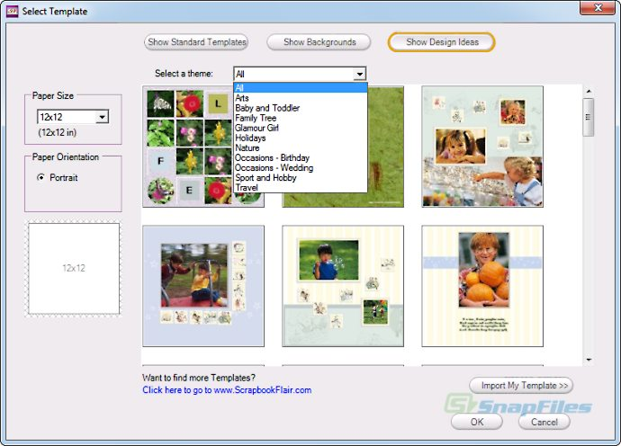 screenshot of ScrapbookFlair