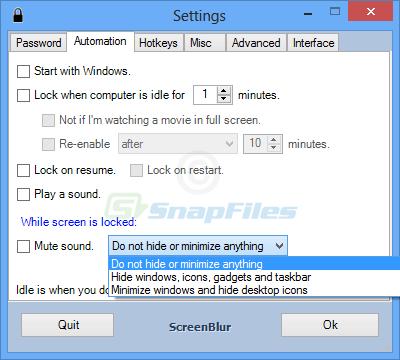 screen capture of ScreenBlur
