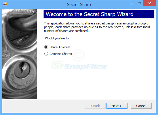 screen capture of Secret Sharp