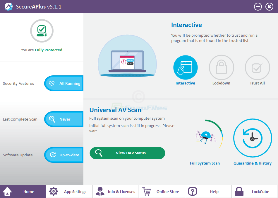 screen capture of SecureAPlus