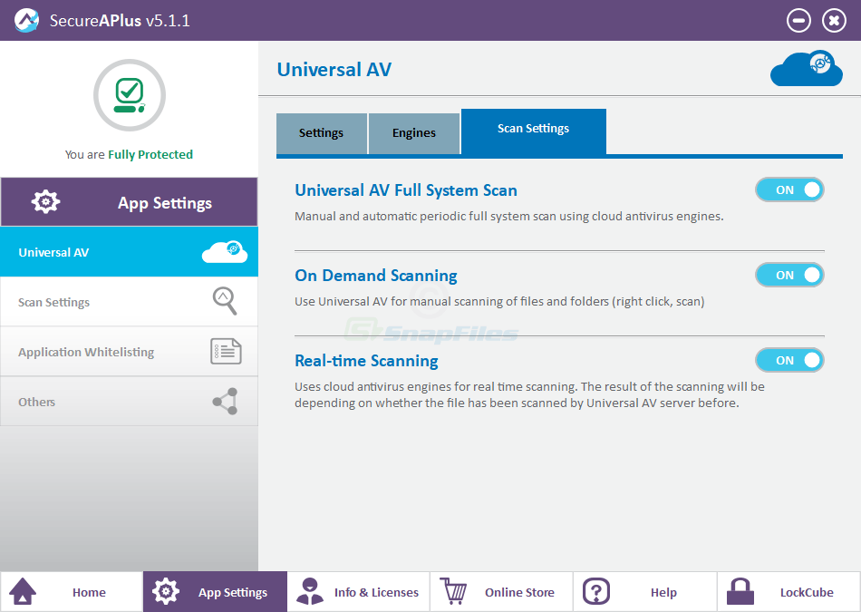 screenshot of SecureAPlus
